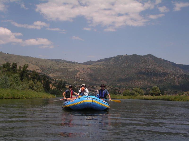 Anne, Denise, Steve, Cody and Rick on the raft
