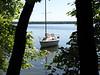 DE-Lite at anchor near our campsite