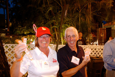 By day, Gail and Dave Bernstein, owners of Tonto's Reward are our wonderful hosts on Division 1 - Signal. By night, they are doing their RC duty of selling drink tix to happy sailors!