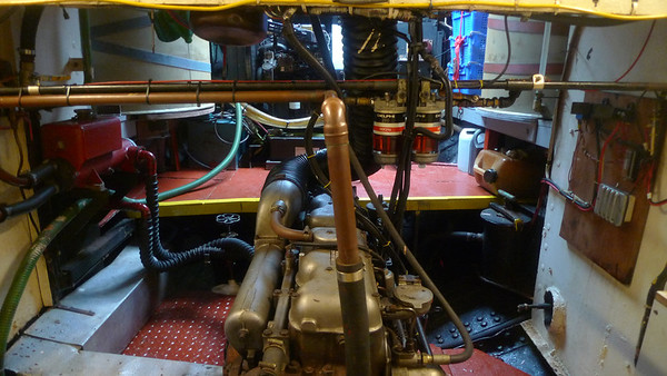 Engine room on the Spider T.