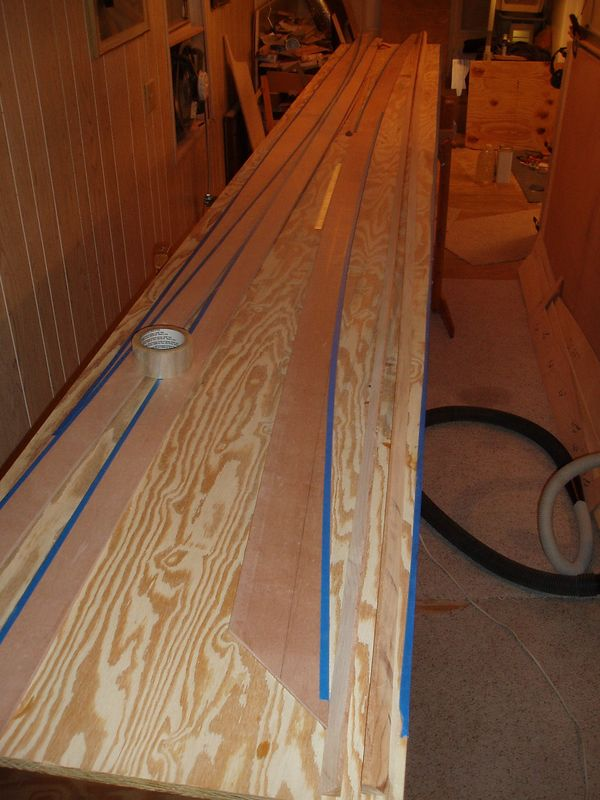Ready to glue sheer clamps to panel 4.