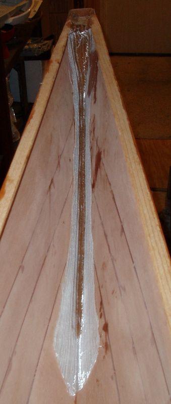 Bow biax cloth layup.