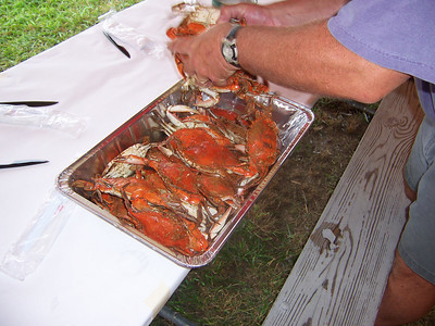 The crabs were a huge hit.