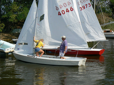 Kate and Sandy Downes sailing together for the last time before she goes off to college.