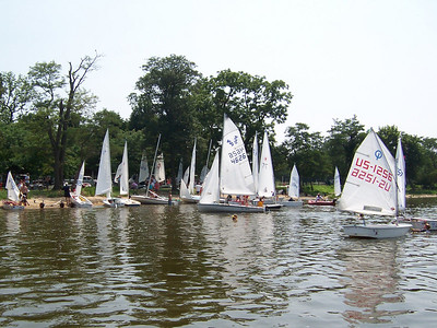 We were able to bring our new fleet of 420's around to Conquest for the Junior Regatta.