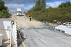 Truck coming to board Niska I in Moosonee.