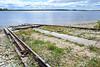 Marine railway heading down to the water.