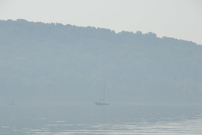Sailboat in the Morning Fog