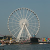 This is a giant wheel (60 meters high!!), on the north side of the IJ-haven.<br /> We didn't go there, but the view must be amazing, when you are in top.