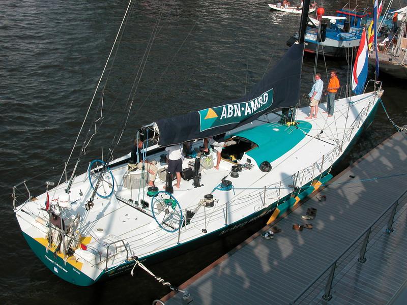 ABN Amro sailing boat. <br /> A very modern racingship...