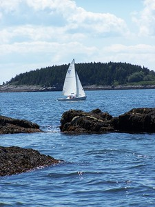 "Wood Island Sail #22 ""Glimmer,"" A.K.A., ""Raga Muffin"" ,photograph, image, photography, Vacationland, sailing race, Small Point Sailing Club"