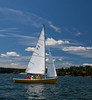 #18, Daddy-O, photograph, image, photography, Vacationland, sailing race, Small Point Sailing Club, yellow hull