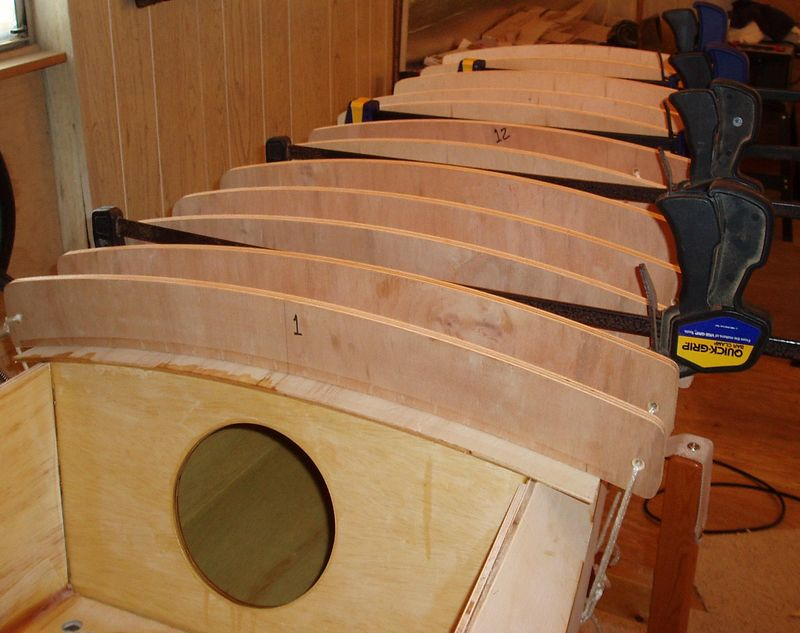Deck forms used to hold the camber in the deck while the epoxy cures.