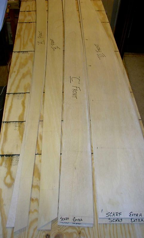 Templates for the hull panels.
