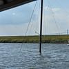 Sailboat sunk in 18 feet high tide in Lathem Creek 05-16-19