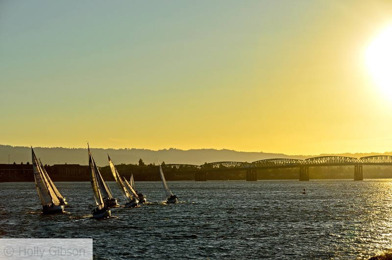 Sailboats on the Columbia - Vancouver, Washington - 56