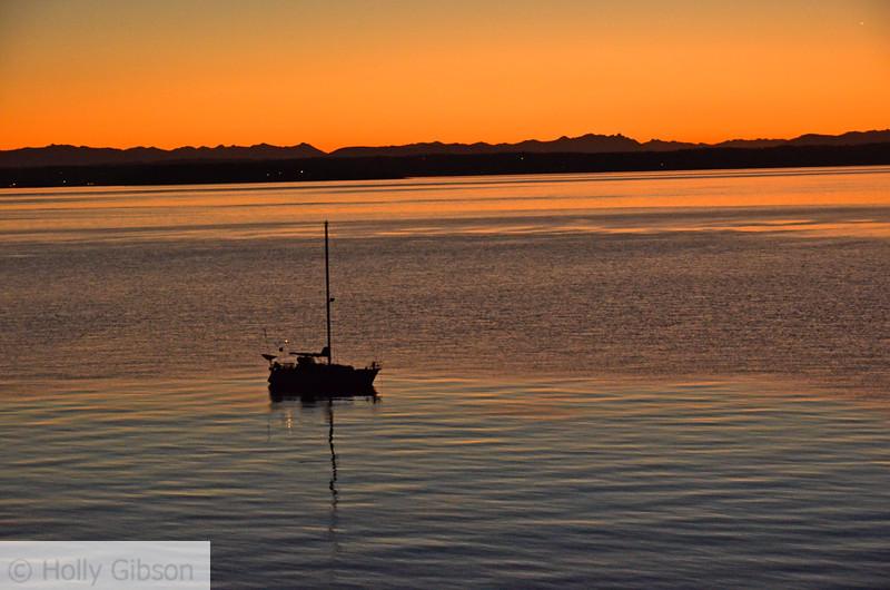 Sailboat at sunrise - 78