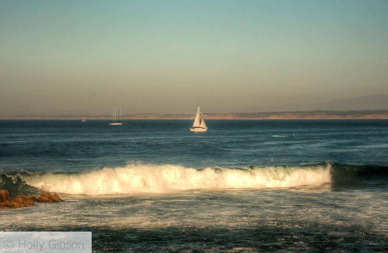Sailboat in Monterey Bay near Cannery Row - 84