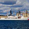 US Coast guard docked in San Diego Harbor