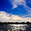 Over exposed, this photo captures the nice cloud formations over Coronado Island