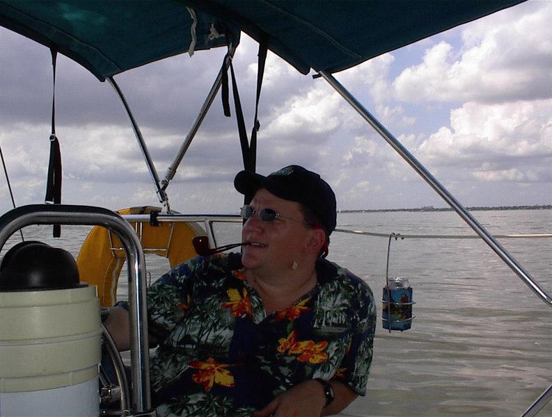 On Galveston Bay with little wind.