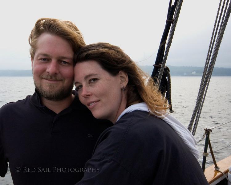 Dana and Craig aboard the schooner Appledore off the coast of Maine.
