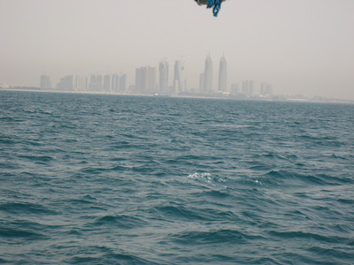Looking back towards Dubai.