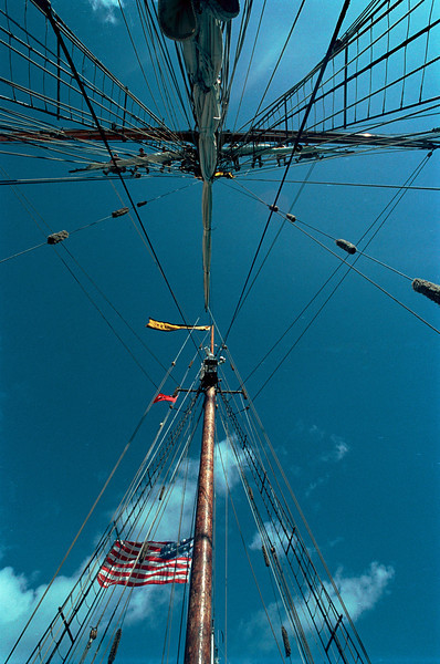Furling Sail, Pride of Baltimore II, Hamilton, Bermuda