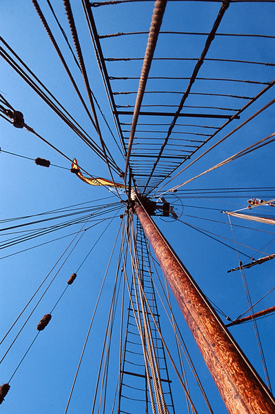 Rigging, Pride of Baltimore II, Hamilton, Bermuda