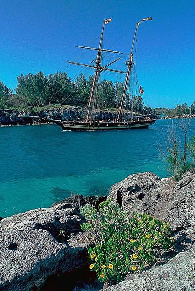 Leaving Hamilton Harbor, Pride of Baltimore II, Bermuda