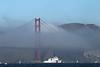 USA 2011 - San Francisco Fleet Week - Ship Parade<br /> Golden Gate Bridge - USCG Bertholf