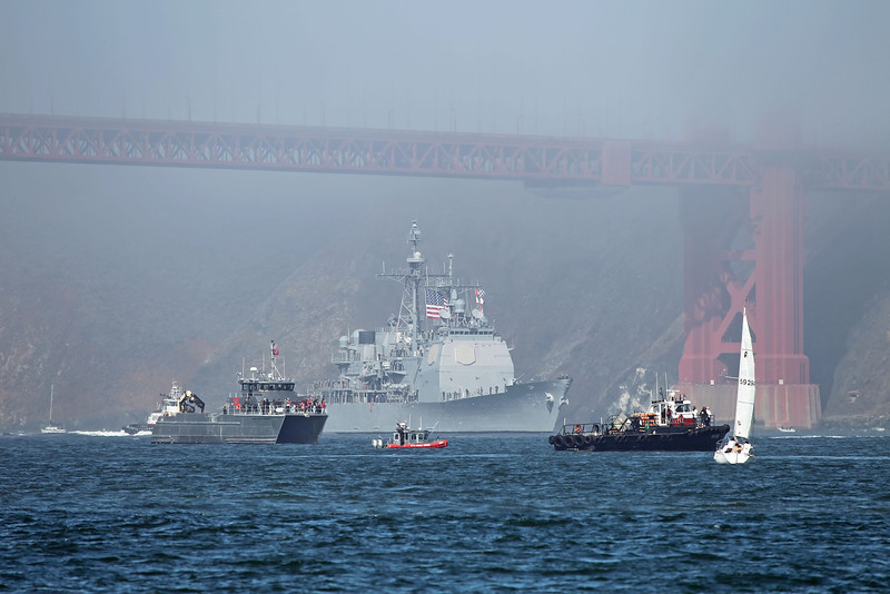 USA 2011 - San Francisco Fleet Week - Ship Parade<br /> USS Antietam (CG 54)