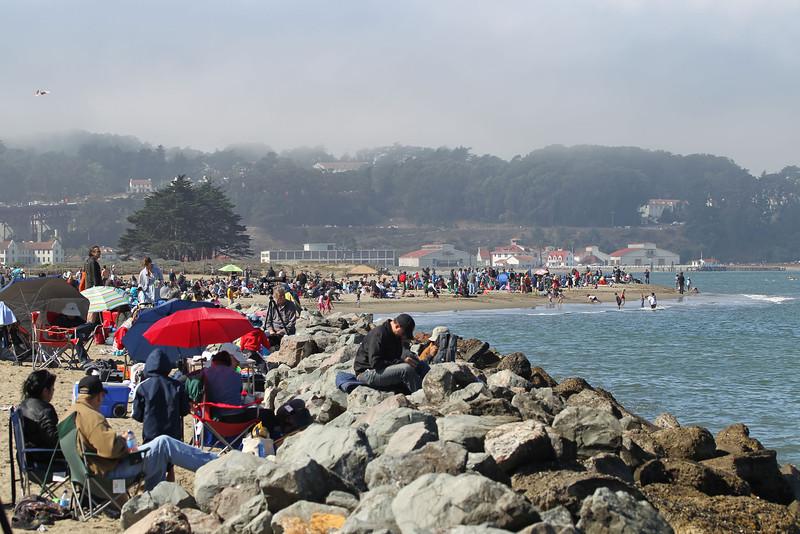 USA 2011 - San Francisco Fleet Week - Ship Parade<br /> Near Crissy Field