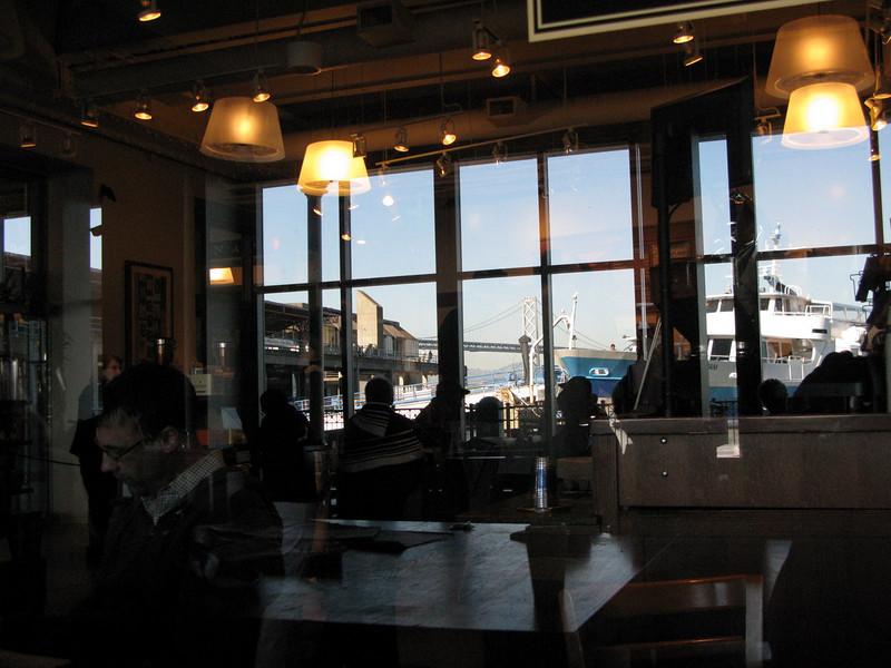 Peet's coffee at Ferry terminal, San Francisco