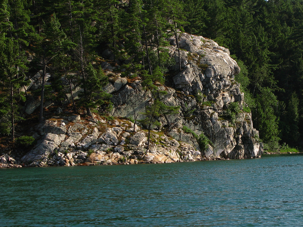 Indian Head Rock at Covered Portage Cove.