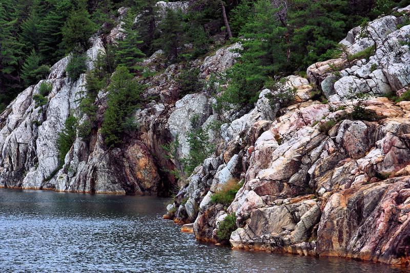 Lake Topaz in Killarney Provincial Park.