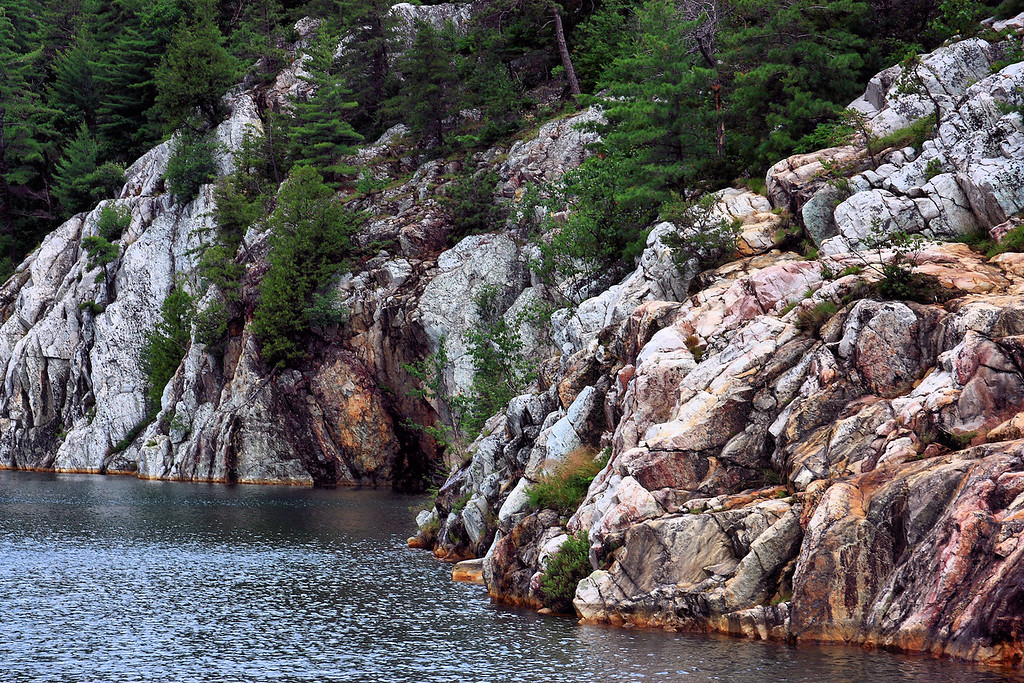 Lake Topaz in Killarney Provincial Park.