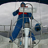 The winds were about 24-26 knots.  Single reef in the main, spirited sailing.