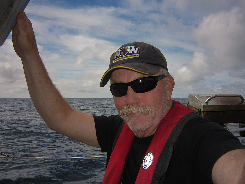 "ps_2710  Just started my Noon to 4PM watch on Tue the 19th.  I got the hat after doing some flying for a Discovery Channel program called ""NOW - No Oppurtunity Wasted"". Not a bad motto to live by, thank you Scott for giving me this opportunity to sail with you on the Jan Maarit.  I had a great time and gained valuable experience."