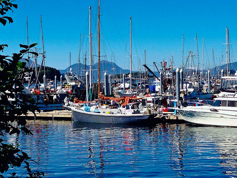 S/V Jan Maarit at the dock in Sitka on Thursday the 21st. Capt Scott preparing for his next leg as Galen and I head to our next adventure.