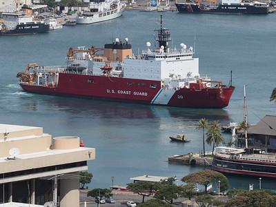 Ships in Honolulu Harbor