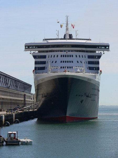 Queen Mary in Boston at the Black Falcon Pier Boston, MA United States.