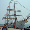 USCG Eagle<br /> I sailed this ship as a gust 1999 <br /> 3 weeks to Guantanamo Bay and through the Panama Chanel<br /> Volunteered to run the scullery.