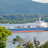 Well after a long dry spell, on 9/2/19 at 14:45 hd hrs we have asphalt / bitumen tanker Palanca Maputo inbound for Port of Albany. At 183 M = 200 yards or 2 football fields headed upriver Profile on the bridge and bowatch visable. Also note the differant color coded valve inlets which differetiate between product.
