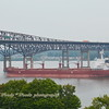 This morning 8/13/19 at 10:00 hd hrs I cought bulk carrier ARVIKA, just in the nick of time ,( I wonder who Nick was) inbound for Port of Coeymans . Under Flag of Liberia No bow watch or profile on the bridge. Seaman visable in orange suit aft. At 190m = 207 yards  a smigen over 2 football fields long