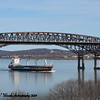 Today 3/27/19 at 12:40 hd hrs we have Wagenborg's Azoresborg outbound for Three Rivers Canada. Arrived 3/23 not long in port. Prifile on the bridge. 143m =156 yards or this pilot is steering 1 1/2 football fields down the Hudson River