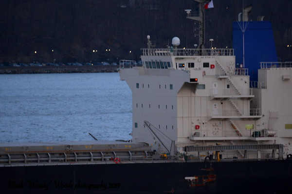 Last night 3/28/19 at 19:10 hd hrs we have Amstel Stork inbound for Hyde Park anchorage. 3/29/19 she will continue to Port of Albany to unload, I have it from a reliable<br /> source, salt. At 199.98 m = 218.7 yards or the pilot is steering over 2 football fields up the Hudson River. Registry Panama.