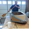 testing the oars
