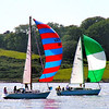 Summer Delight. Yachts in full sail on Strangford Lough, near Portaferry, County Down