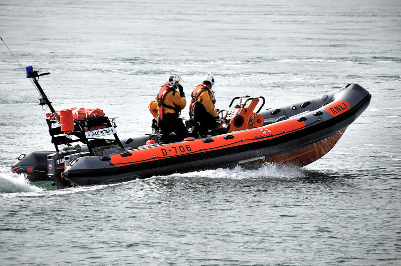 Blue Peter V, the Portaferry lifeboat. Seen here heading to tender assistance to a diving boat with engine problems.